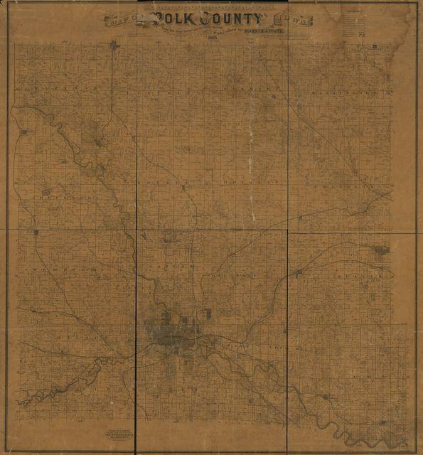 Map of Polk County, Iowa /