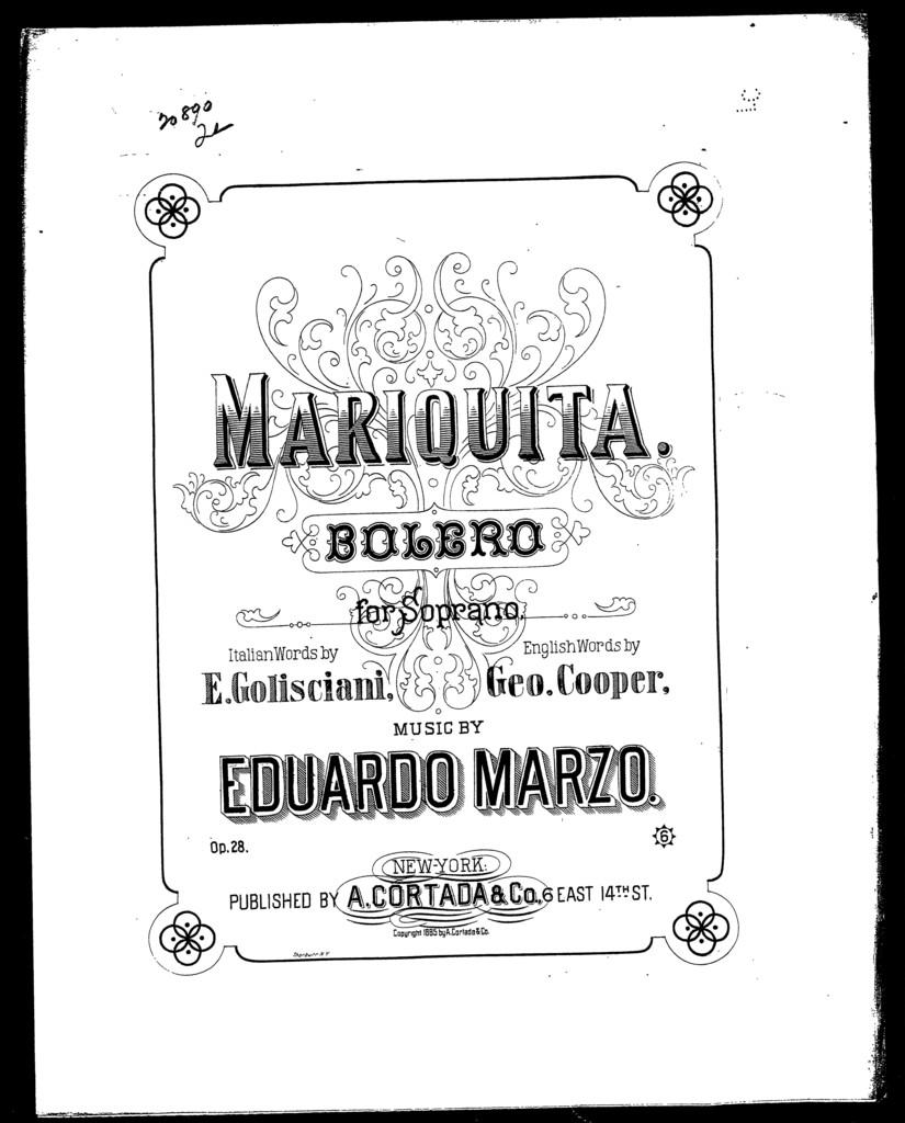 Mariquita; Bolero