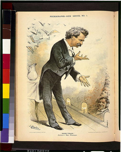 """Mark Twain,"" America's best humorist / J. Keppler ; Mayer, Merkel & Ottman, Lith. 21-25 Warren St. N.Y."