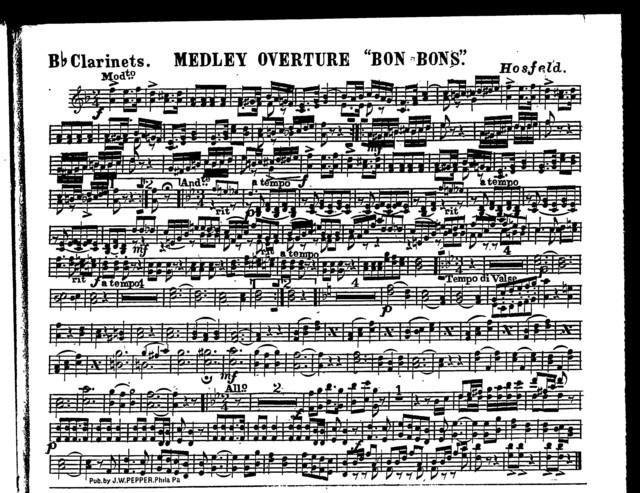 Medley overture; Bon-bons