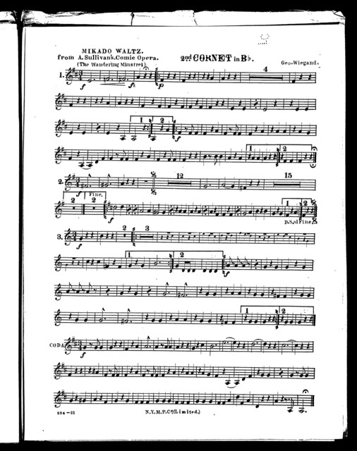 Mikado waltz; The Wandering minstrel