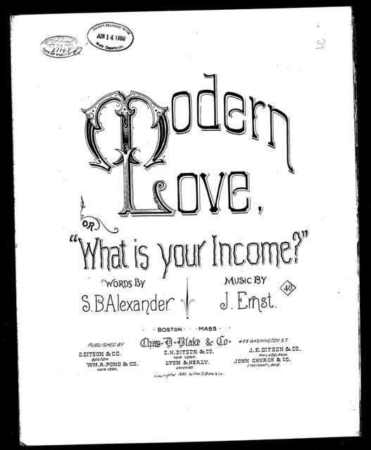 Modern love; or, What is your income?