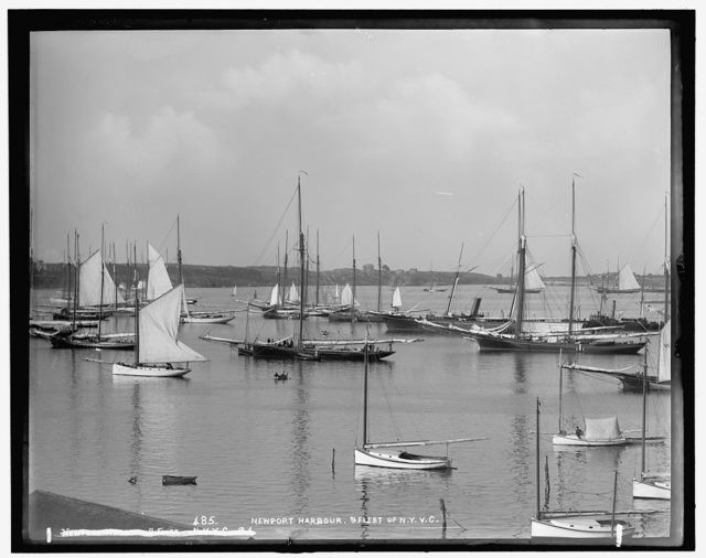 Newport harbor & fleet of N.Y.Y.C. [New York YachtClub]