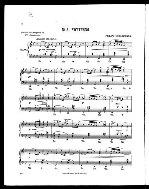 No. 3; Notturno
