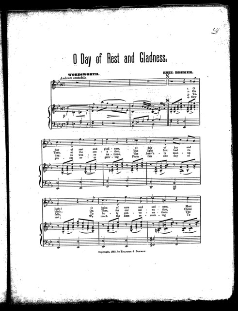 O day of rest and gladness