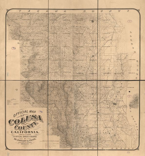 Official map of Colusa County, California. : compiled and drawn from official surveys and records /