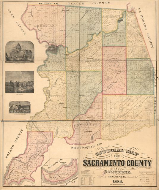 Official map of Sacramento County, California /