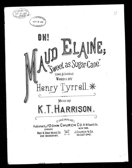 Oh! Maude Elaine!