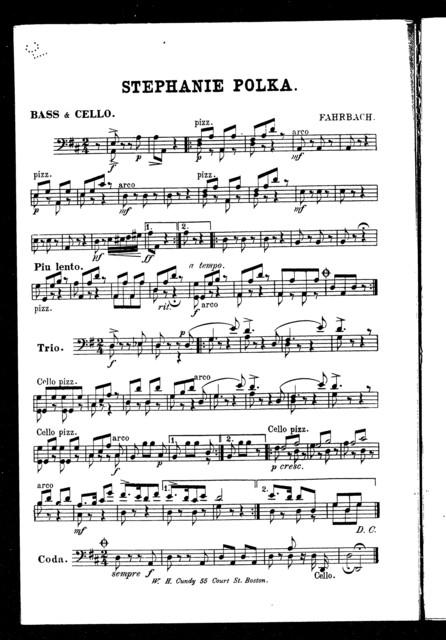 One heart, one soul; Polka mazurka [and] Stephanie polka