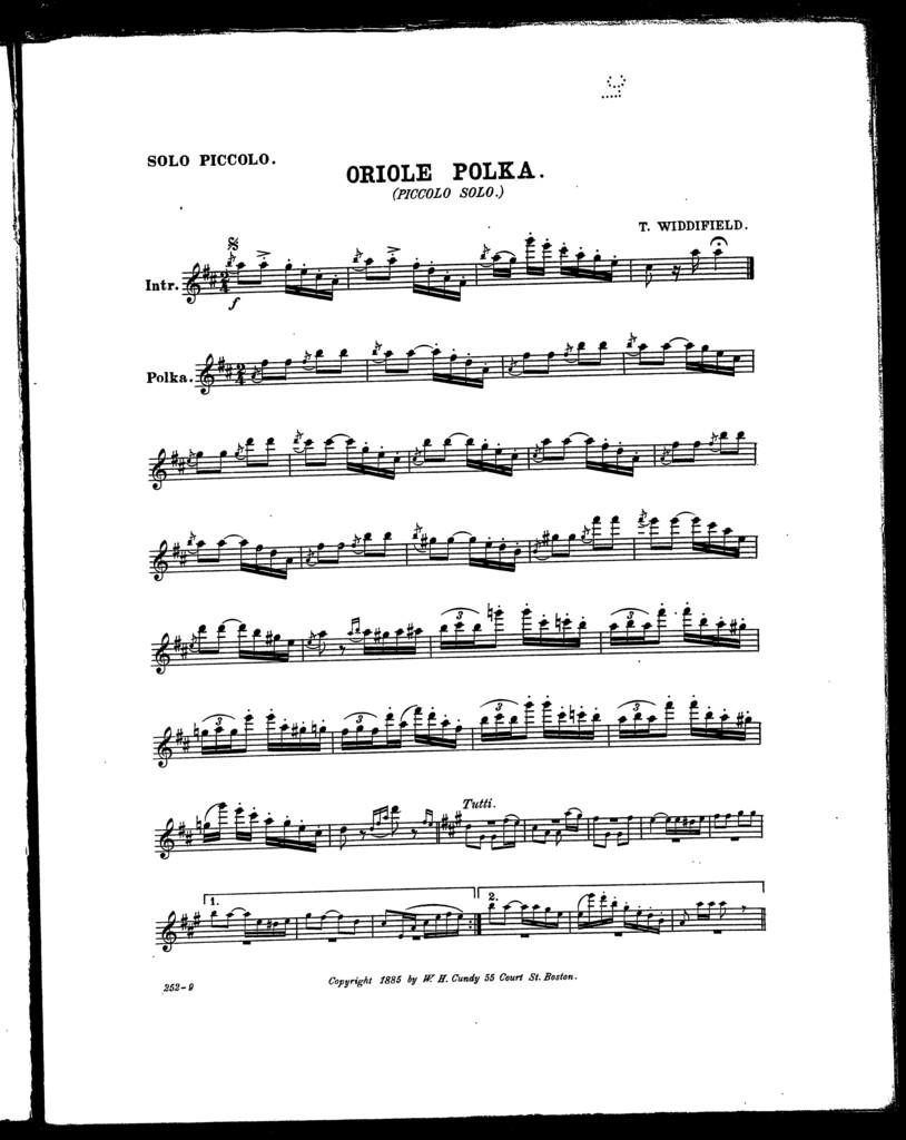 Oriole polka [piccolo, piano]