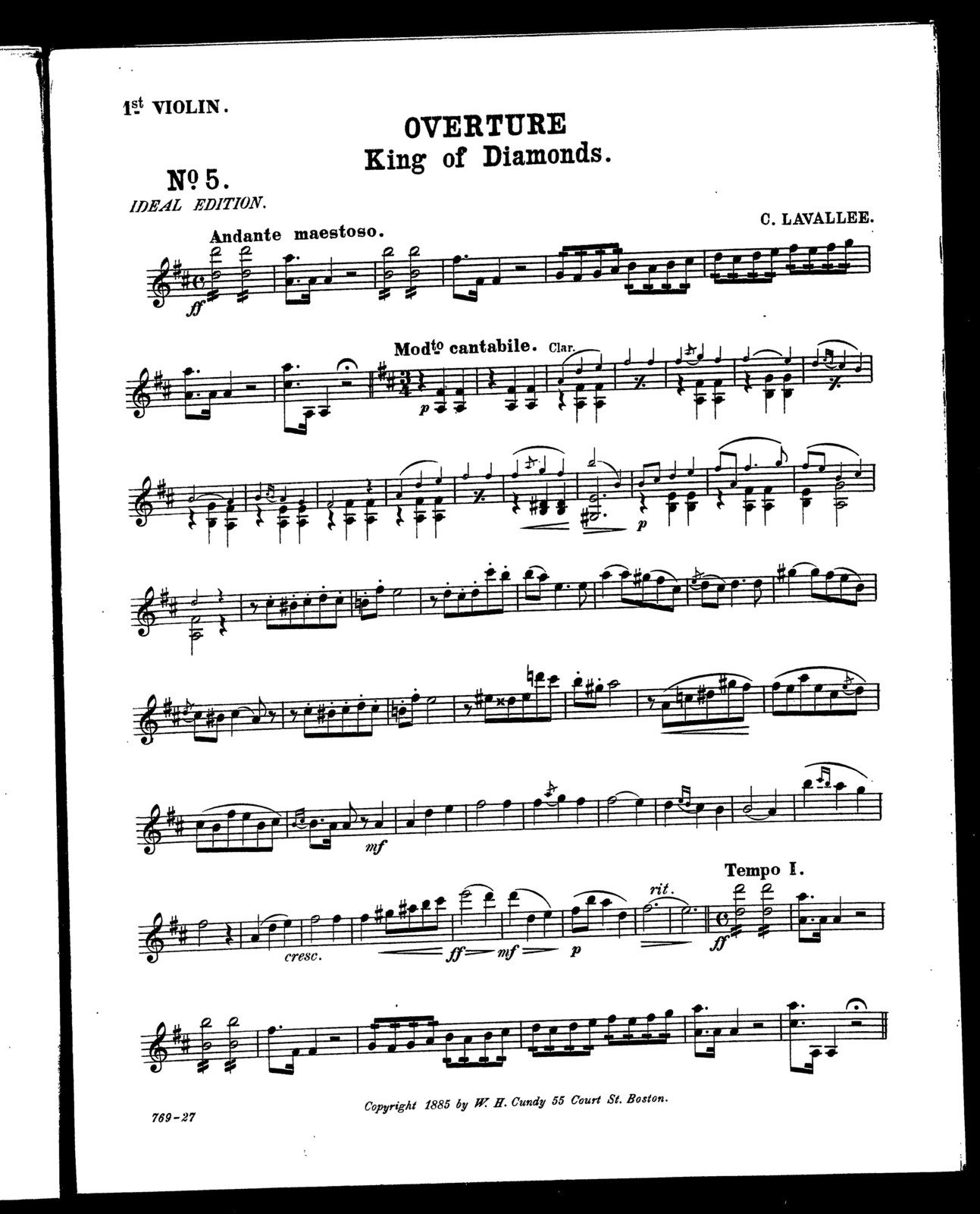 Overture; King of diamonds