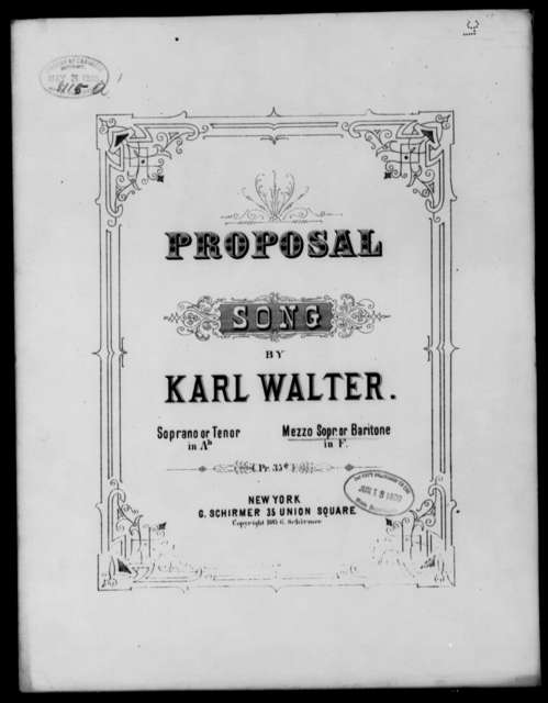 Proposal [mezzo soprano or baritone]