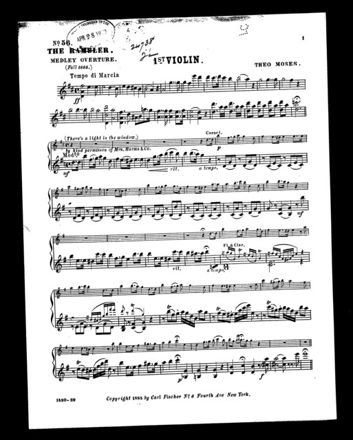 Rambler, The; Medley overture