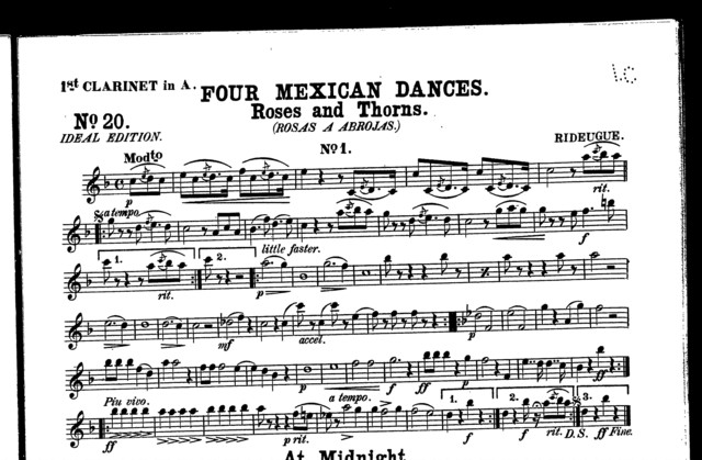 Roses and thorns - Rosas a abrojas [from] Four Mexican dances