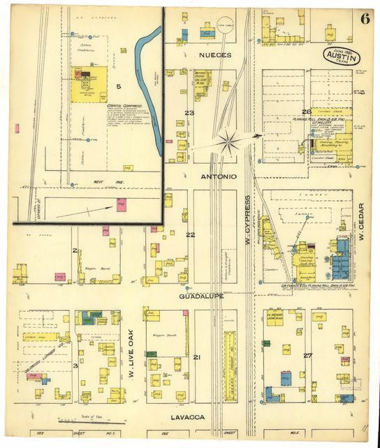 Sanborn Fire Insurance Map from Austin, Travis County, Texas.