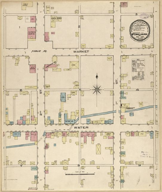 Sanborn Fire Insurance Map from McConnellsburgh, Fulton County, Pennsylvania.
