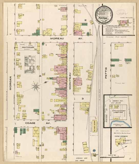 Sanborn Fire Insurance Map from Tipton, Moniteau County, Missouri.