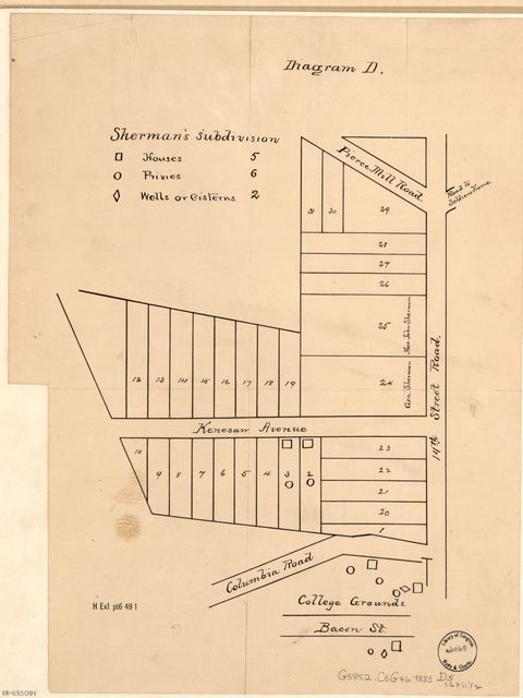 Sherman's subdivision : [of part of Columbia Heights, Washington D.C.].