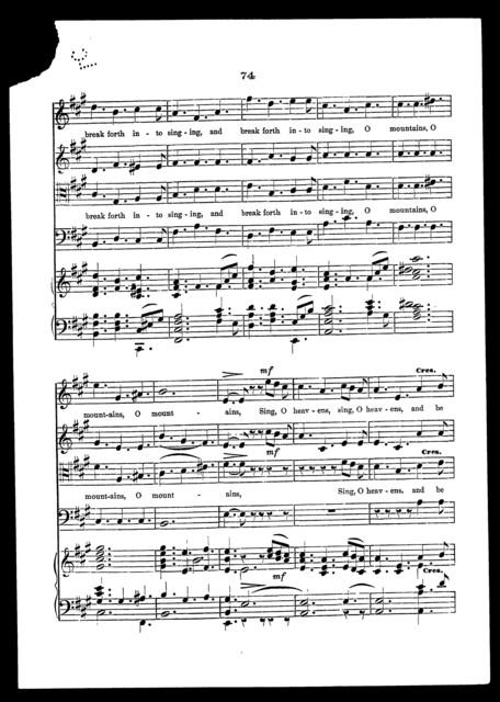 Sing, O heavens
