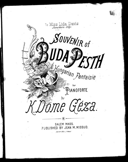 Souvenir of Buda Pesth