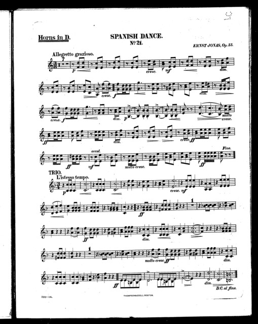 Spanish dance, no. 21 [and] Americani wedding march, no. 21