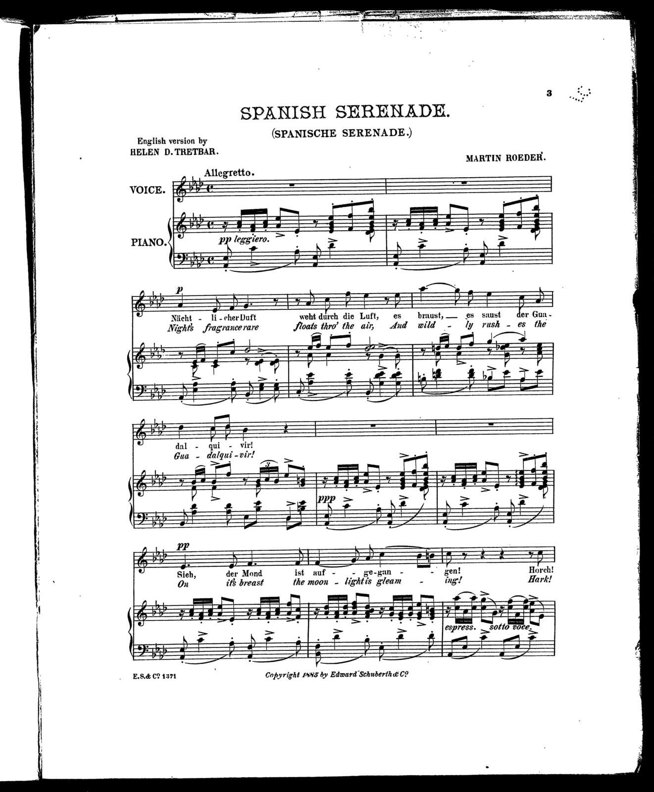 Spanish serenade - Spanische serenade - PICRYL Public Domain