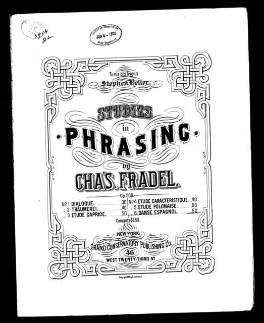 Studies in phrasing; Danse espagnole