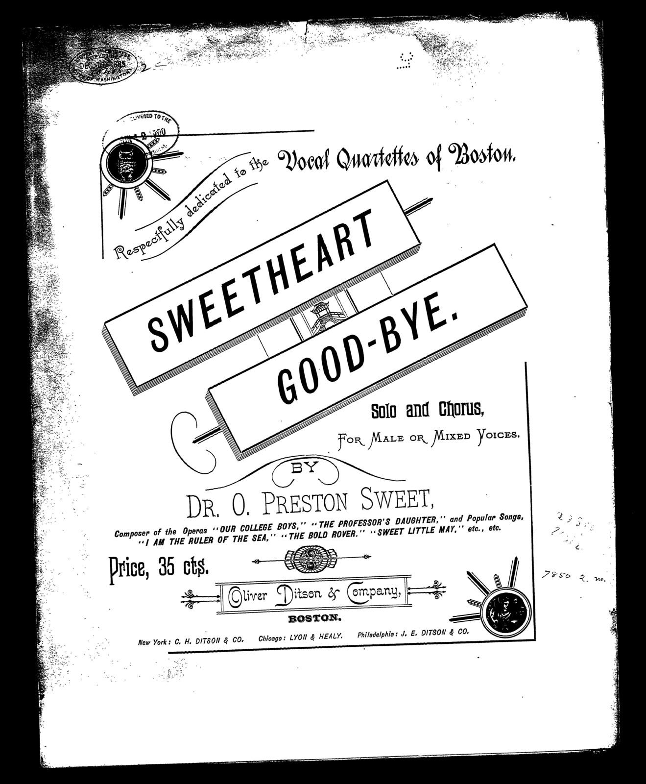 Sweetheart, good-bye