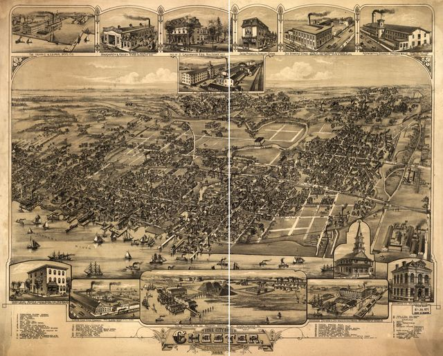 The city of Chester, Pennsylvania 1885.
