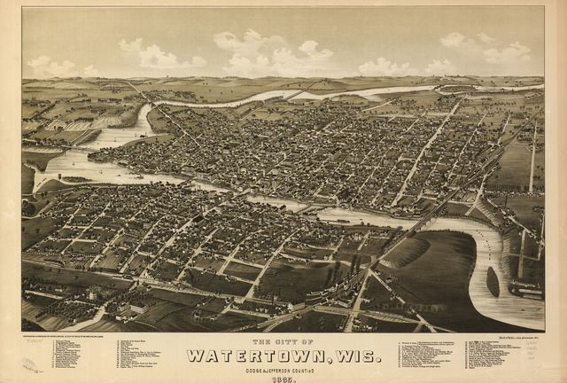 The city of Watertown, Wis. Dodge & Jefferson counties 1885.