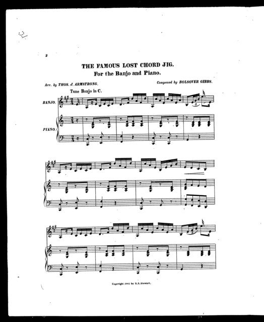 The  Famous lost chord jig