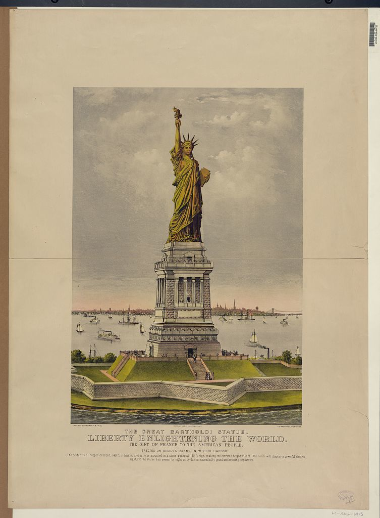 The great Bartholdi statue, liberty enlightening the world: the gift of France to the American people