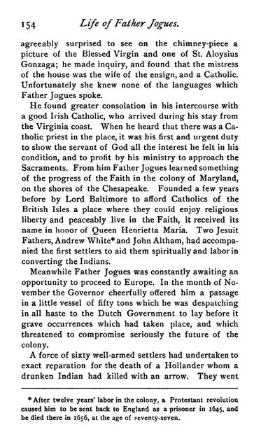 The life of Father Isaac Jogues, missionary priest of the Society of Jesus, slain by the Mohawk Iroquois, in the present State of New York, Oct. 18, 1646.