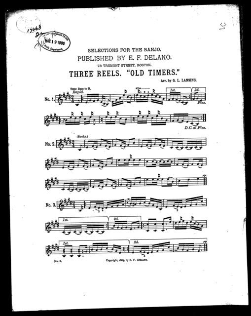 Three reels; Old timers