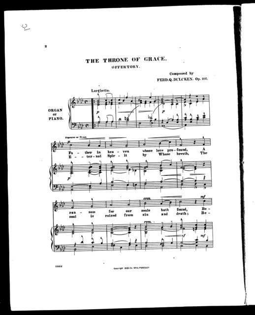 Throne of Grace, The; Offertory