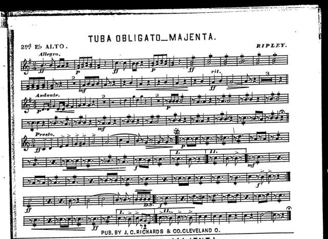 Tuba obligato; Majenta
