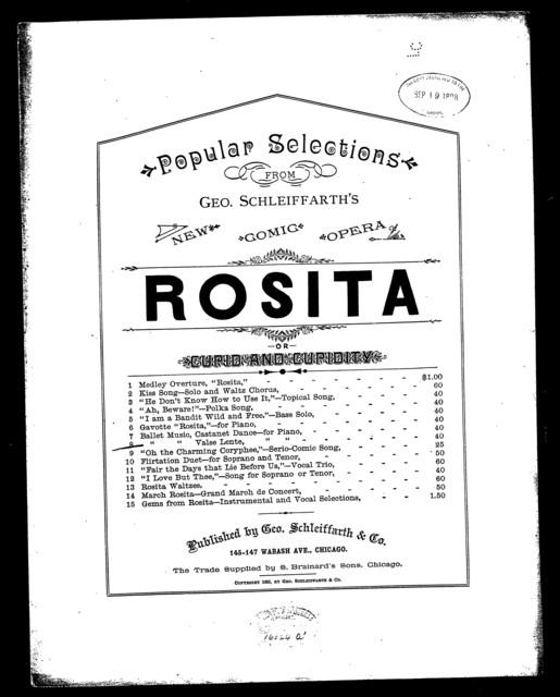 Valse lente; Ballet music [from] Rosita