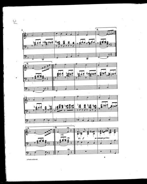Vesper hymn; Transcription