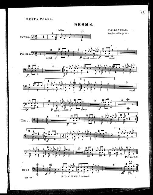 Vesta polka [and] Sailors march