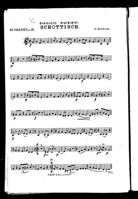 Waltz from The Grip [and] Hallo Babby! Schottisch [orchestra]