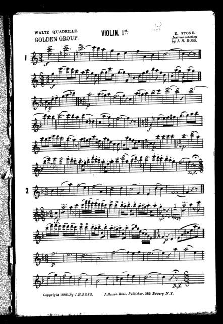 Waltz quadrille; Golden group
