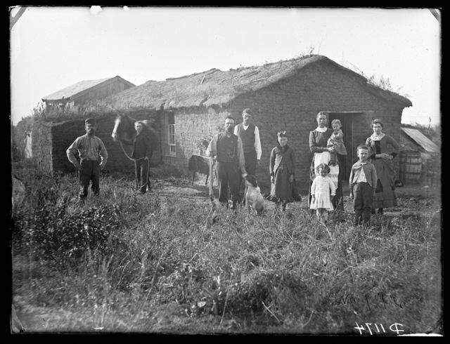 A.W. Squires and family, near Gates, Custer County, Nebraska.