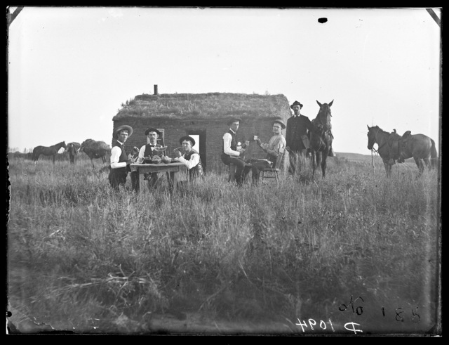 Bachelor house of Perry brothers, near Merna, Custer County, Nebraska.