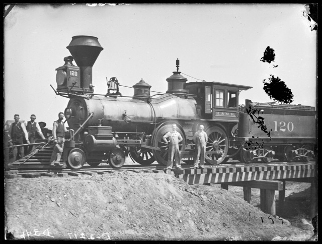 Burlington engine number 120, the first train into Broken Bow, Nebraska,