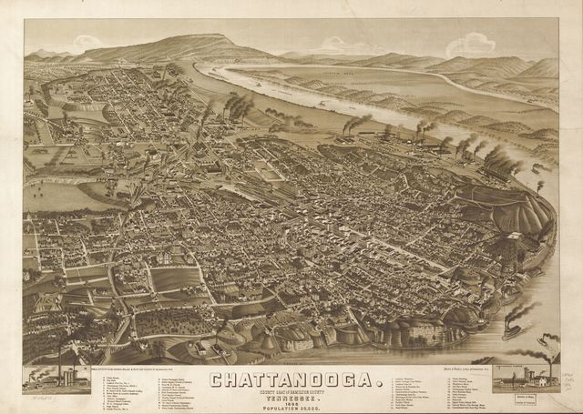 Chattanooga, county seat of Hamilton County, Tennessee 1886.