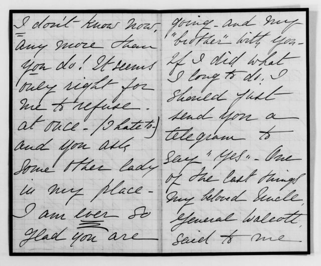 Clara Barton Papers: Family Papers: Barton, Lizzie Tracy, 1886-1909