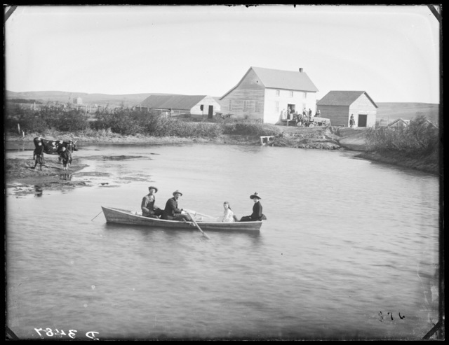 Clark Miller, old mill and mill pond at Westerville, Custer County, Nebraska