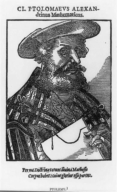 [Claudius Ptolemy, half-length portrait, facing right]