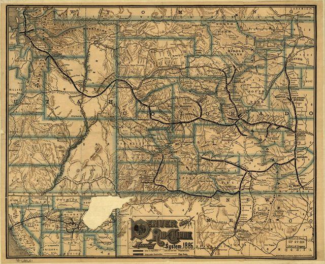 Denver and Rio Grande Railway System, 1886.