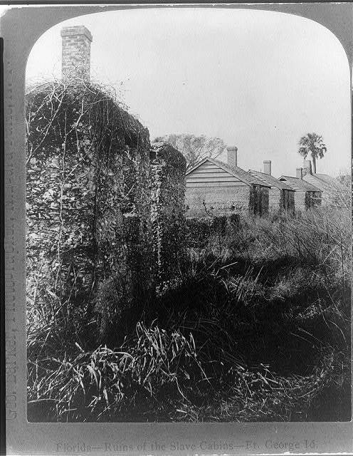 Florida-- ruins of the slave cabins--Ft. George Id. / Geo. Barker, photographer, Niagara Falls, N.Y.